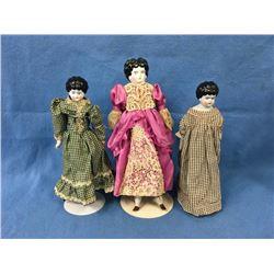 3 German Porcelain Dolls