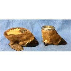 Two Elk Hoof Ash Trays