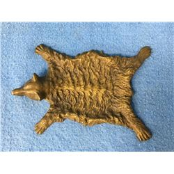 Bronze Tray In Shape Of Bear