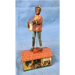 Jazzbo Jim Clockworks Tin Toy Circa 1921