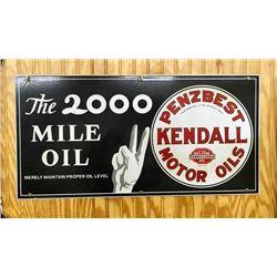 Fantastic Porcelain Kendall Motor Oil Sign