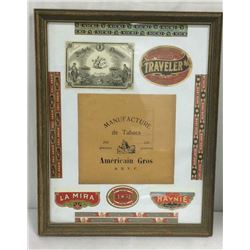 Framed Collage Of Cigar Labels
