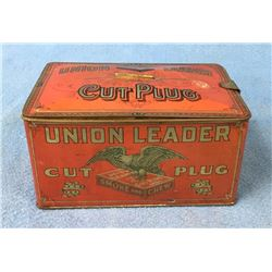 Union Leader Cut Plug Tobacco Tin