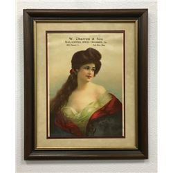 Great Advertising Framed Poster Of Victorian Lady