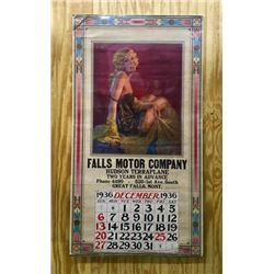 Hudson Terraplane Auto Greatfalls, Mt Calendar