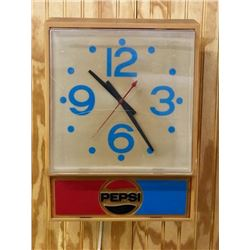 Pepsi Light Up Advertising Clock