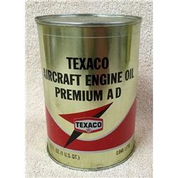 Texaco Aircraft Quart Oil Can