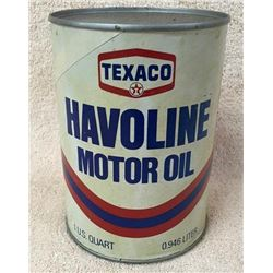 Havoline Quart Oil Can