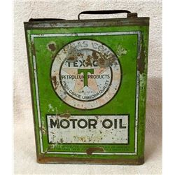 Very Early Rare Texaco 1 Gallon Oil Can