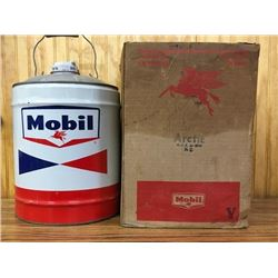 Mobil 5 Gallon Oil Can