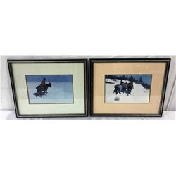 (2) Frederick Remington Prints