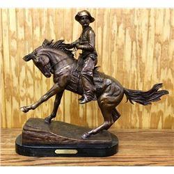 "Bronze ""Cowboy"" F. Remington"