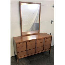 Mid Century Dresser & Mirror