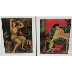 (2) Vintage German Prints