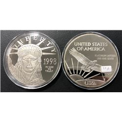 (2) 4 Oz Each. Silver Liberty Large Coins