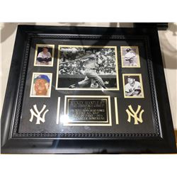 Mikey Mantle Signed Frame