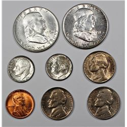 LOT OF GEM BU COINS: 1946-D CENT, 1946 P& D DIMES,