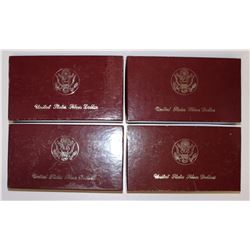 OLYMPIC SILVER DOLLARS: 3-1984 PROOF,