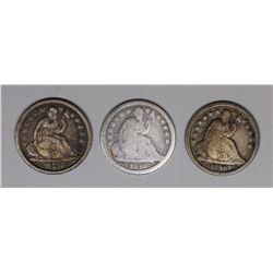 SEATED DIMES: (2) 1840 AND 1840-O