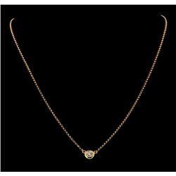 0.39 ctw Diamond Necklace - 18KT Rose Gold