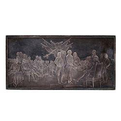 4.2oz .999 Fine Silver Signing of Declaration of Independence Art Bar
