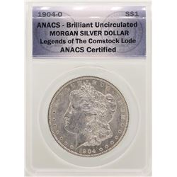 1904-O $1 Morgan Silver Dollar Coin ANACS Brilliant Uncirculated