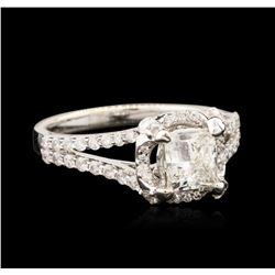 18KT White Gold 1.09 ctw Diamond Ring