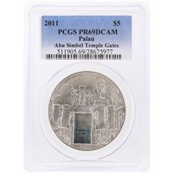 2011 $5 Republic of Palau Silver Coin PCGS PR69DCAM