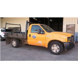 2006 Ford F250 Flatbed Truck, 36,174 Miles, Lic. 761MDE (Runs, Drives - See Video)