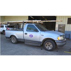 1998 Ford F150 Pickup Truck, 155,405 Miles, Lic. 089TTS (Requires Jump Start, Runs, Drives - See Vid