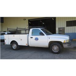2001 Dodge Truck, Utility Body, 113,259 Miles, Lic. 572TTB (Requires Jump Start, Runs, Drives - See