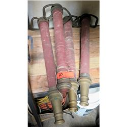 Four Fire Hose Nozzles