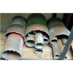 "White PVC Pipes, 20 ft, 5"" Dia., Qty 2"