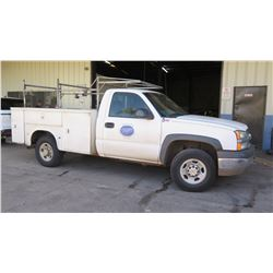 2003 Chevy Silverado Truck, Utility Body, 108,926 Miles Lic. 868TTU, (Runs, Drives - See Video)