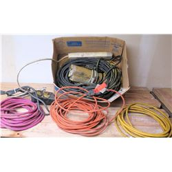 Extension Cords and Surge Protectors (Approx 5 Cords & 2 Surges)