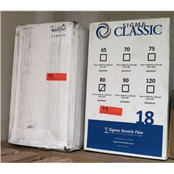 "Two Boxes of Sigma Stretch Film 18""x1500'x0.8mil"