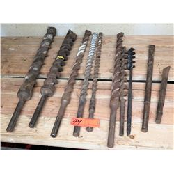 Large Lot of Drill Bits 10 pcs