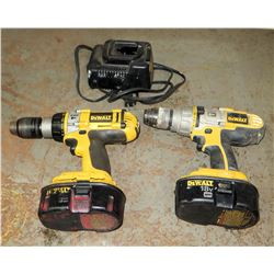 DeWalt XRP Drills with Chargers (2 ea)