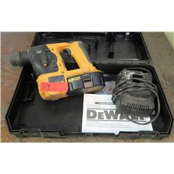 DeWalt 18v SDS Hammer Drill Model DC212 with Case (Powers On - See Video)