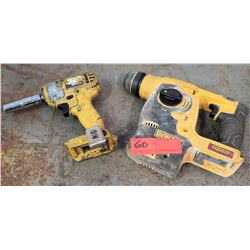 DeWalt 20V Cordless Rotary Hammer Model DCH253 (no batteries, untested)