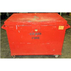 "Rolling/Locking Metal Job Box, Red, 48"" L x 30"" D x 39"" H"