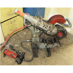 Ridgid 700 Power Drive Threading & Pipe Fabrication Tool, (Powers On - See Video) On Stand w/Foot Pe