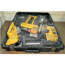 DeWalt Cordless 36V SDS Rotary Hammer Drill w/ Charger (Powers On - See Video)