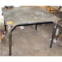 "Square Metal Work Table 48"" x 48"" x 32.5"" H"