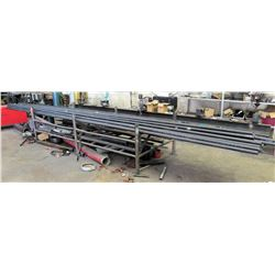 Pipe Rack (21'1  L) with Approx. 29 Misc Pipes, Assorted Lengths