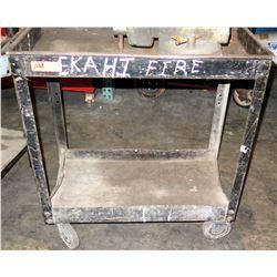 Metal Utility Cart w/ Wheels