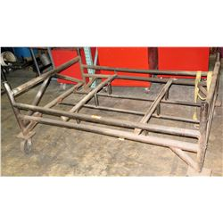 "Large Metal Utility Rack w/ Wheels 74"" x 50"""