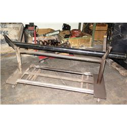 "Shop V Pipe Rack on Wheels with Black Pipe (approx. 66"" across)"