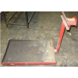 Metal Platform Cart w/ Hose Rack