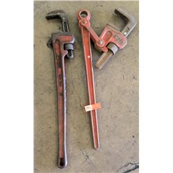 Qty 2 Large Pipe Wrenches